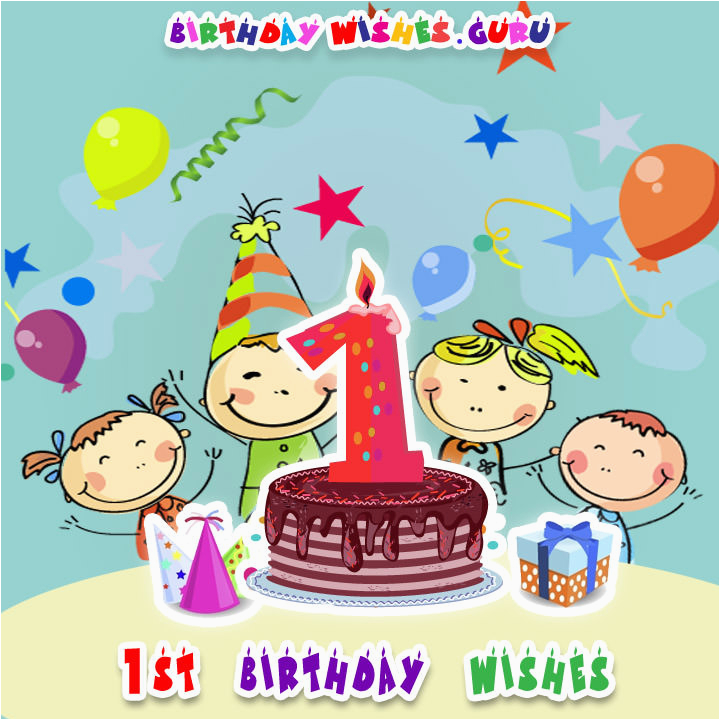 1st birthday wishes cute babies
