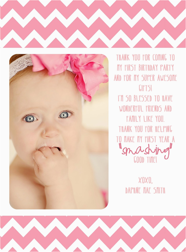 first birthday thank you card 12 00 via etsy wish i
