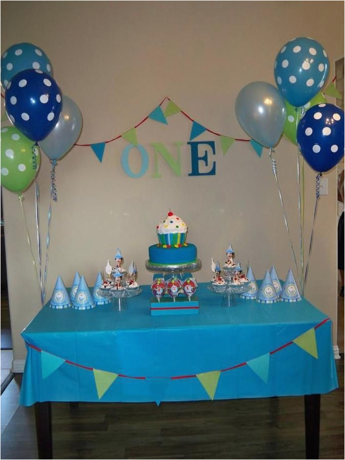 Baby Boy First Birthday Decoration Ideas 1000 About Simple On Pinterest
