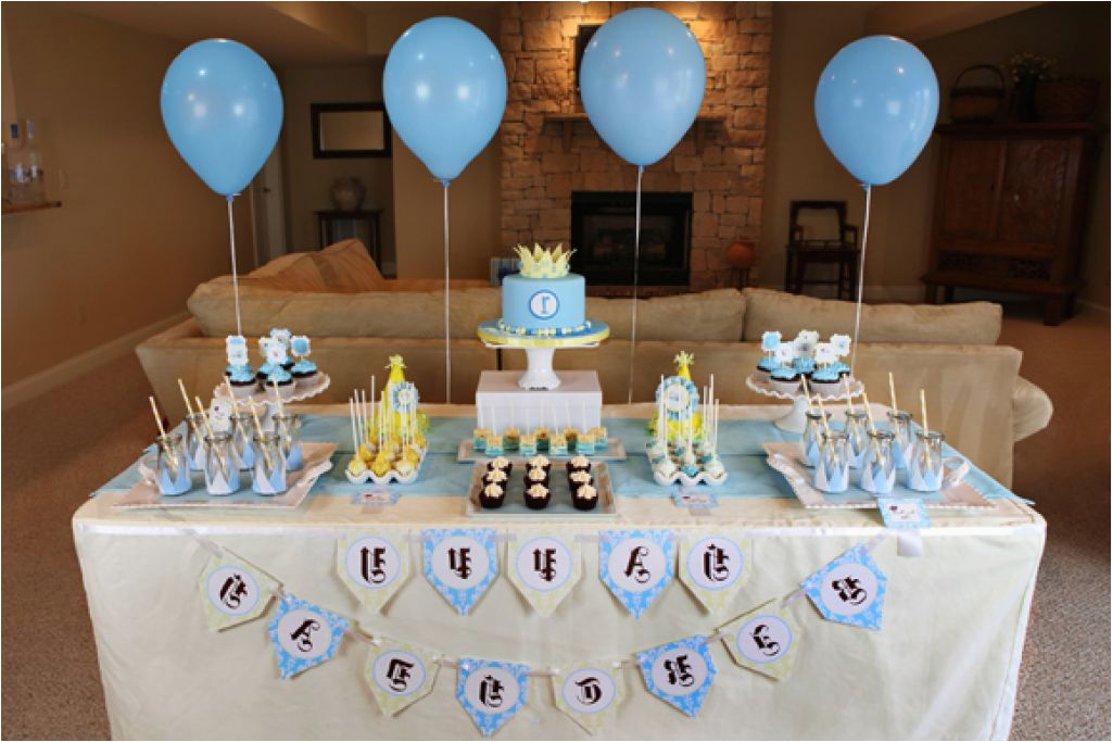 Baby Boy First Birthday Decoration Ideas 96 Party 1st
