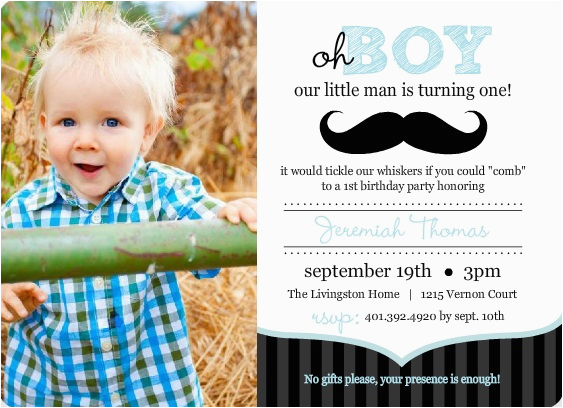 Baby Boy First Birthday Invitation Quotes