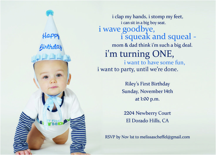 Baby Boy First Birthday Invitation Quotes 9 Best H 1st Images On Pinterest Party