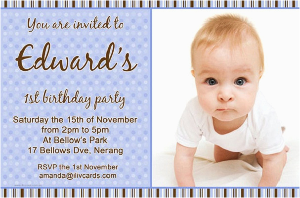 Baby Boy First Birthday Invitation Quotes Invitations 365greetings Com