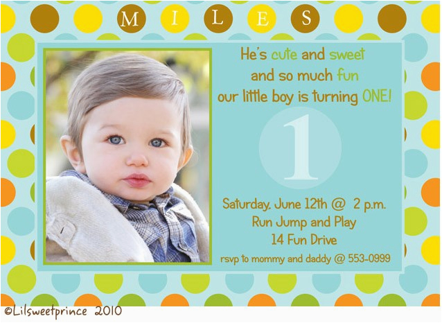 Baby Boy First Birthday Invitation Wording Photo Invitations Bagvania Free Printable