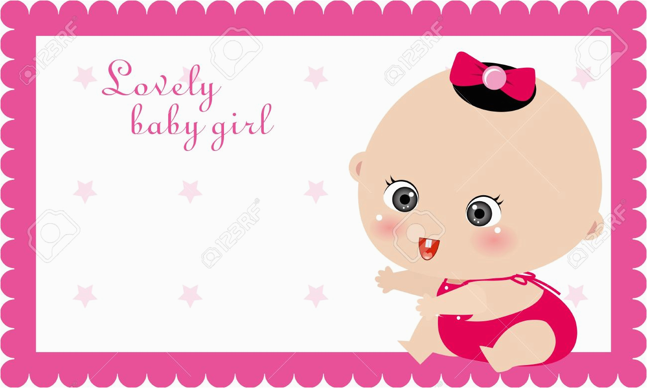 baby birthday card design
