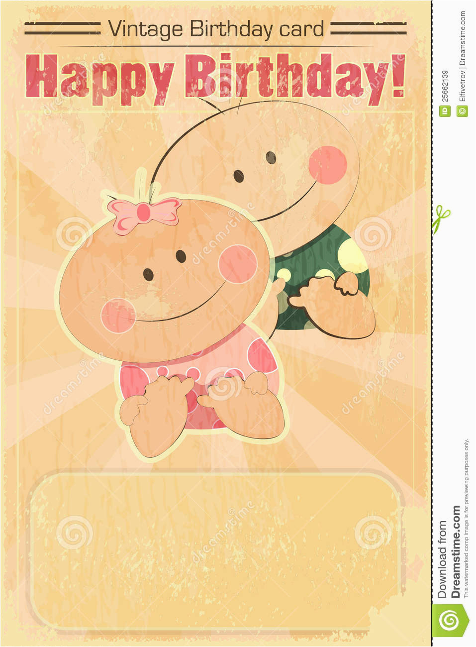 royalty free stock images retro design baby birthday card image25662139