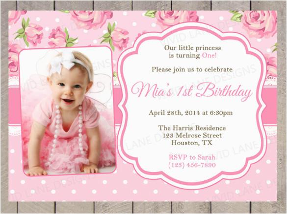 Baby First Birthday Invitation Templates Free 23 Photo Psd Vector Eps