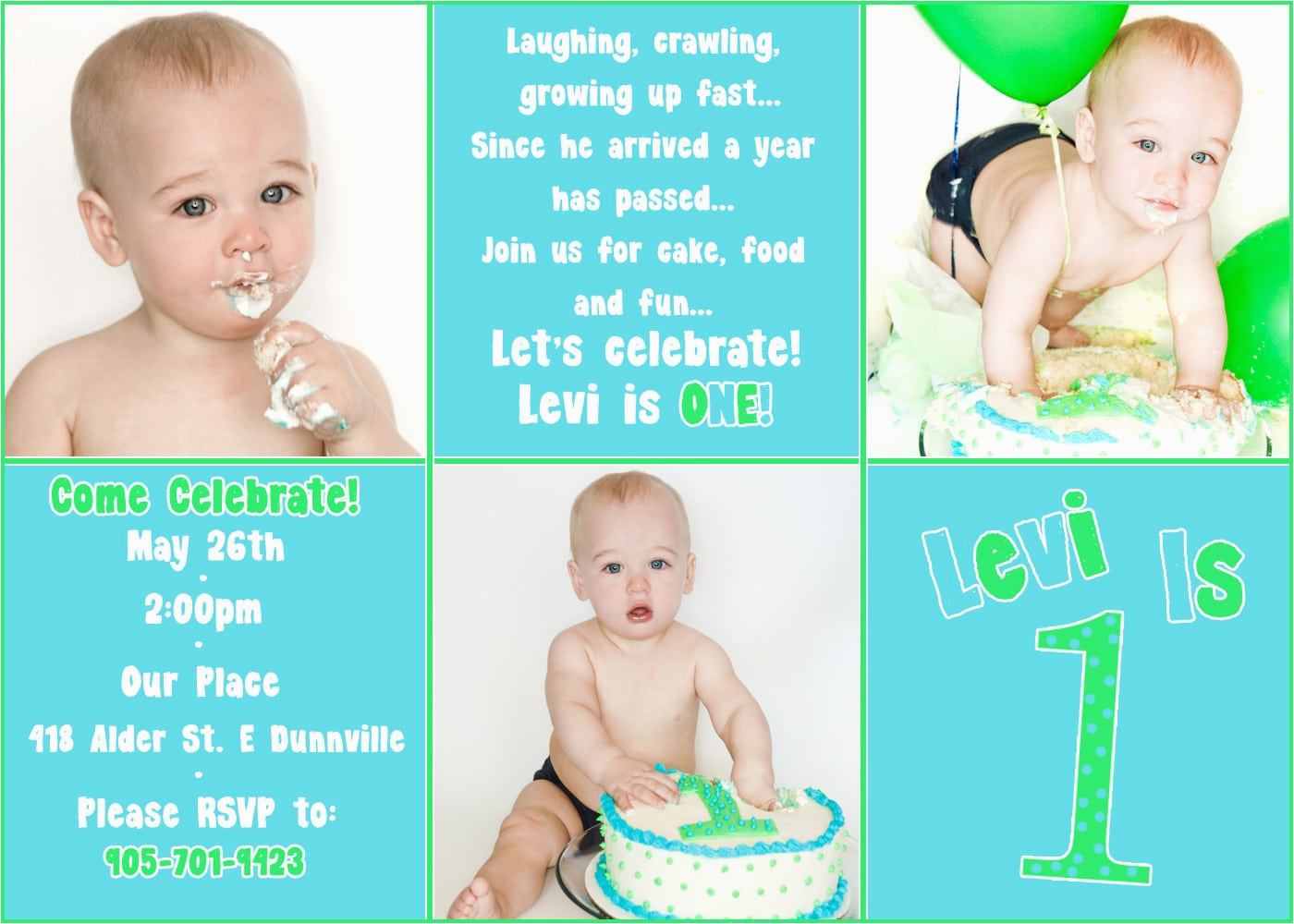 Baby First Birthday Invitation Templates Free Template