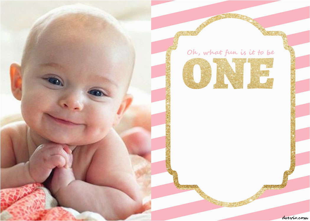 Baby First Birthday Invitation Templates Free Printable 1st Invitations Template