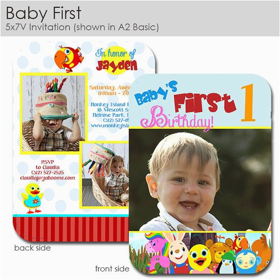 Baby First Tv Birthday Invitations Picture 554998354052059290