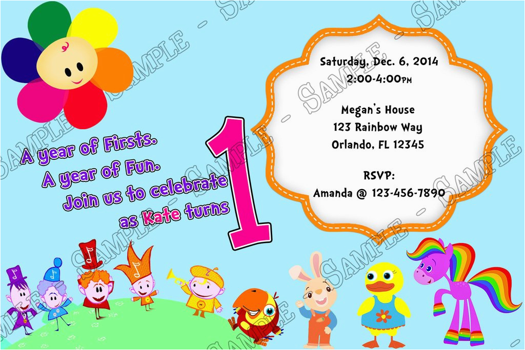 Baby First Tv Birthday Invitations Novel Concept Designs 1st