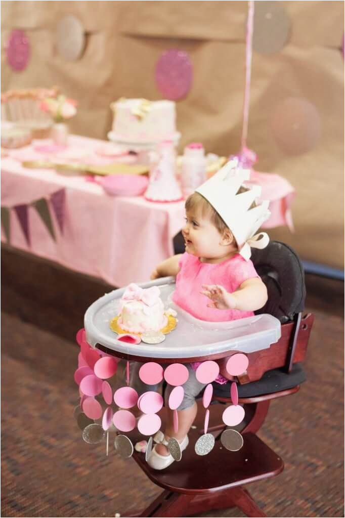 Baby Girl 1st Birthday Decoration Ideas 12 First High Chair