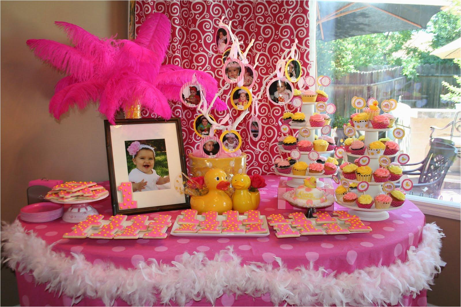 1st birthday party ideas girls