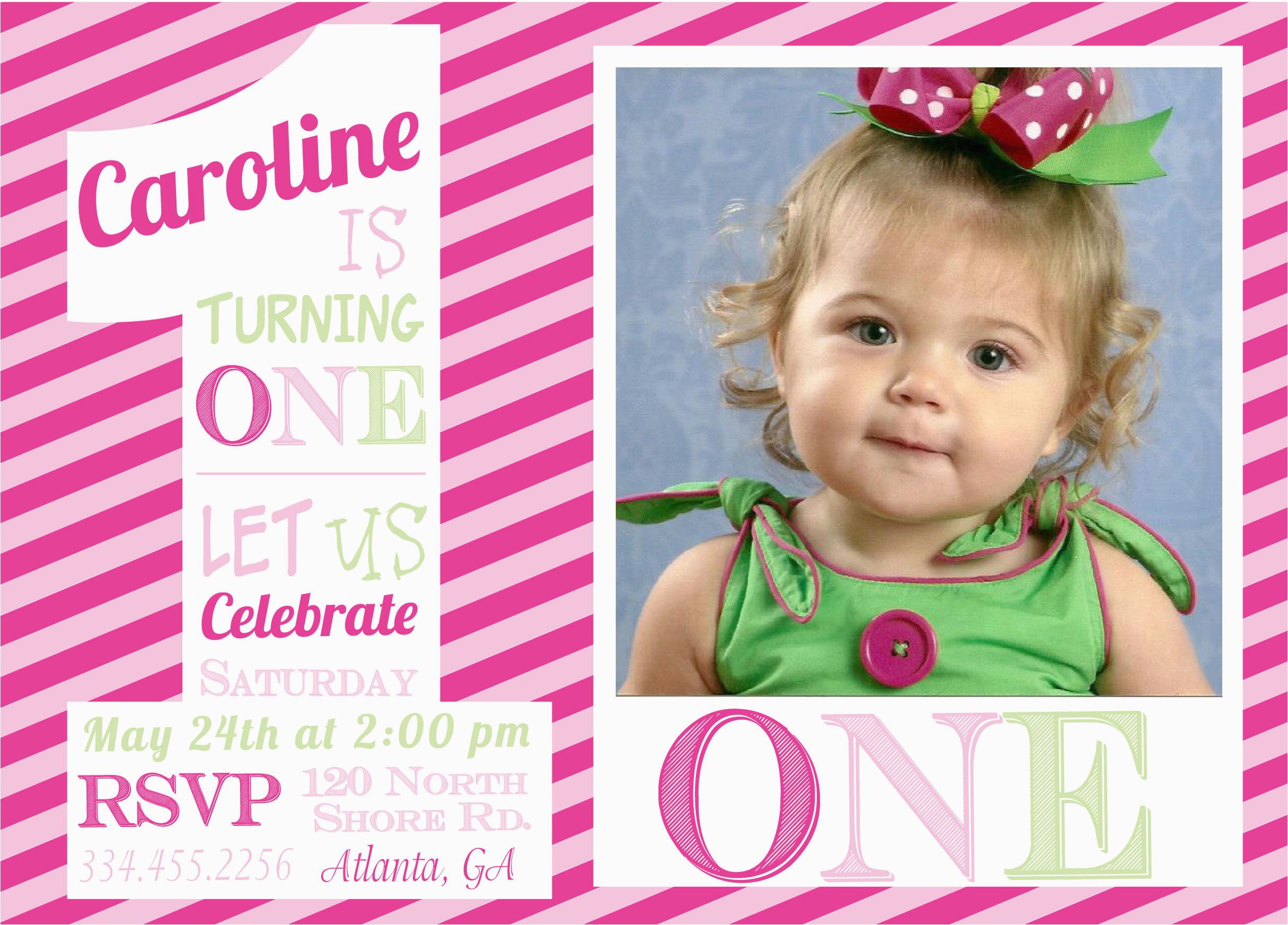 Baby Girl First Birthday Party Invitations 16th Templates Ideas 1st