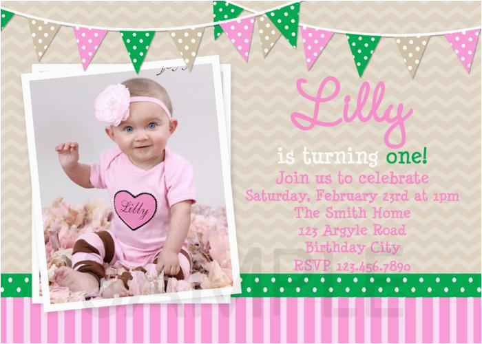 Baby Girl First Birthday Party Invitations 1st Birthday Invitations Girl Free Template Baby Girl 39 S