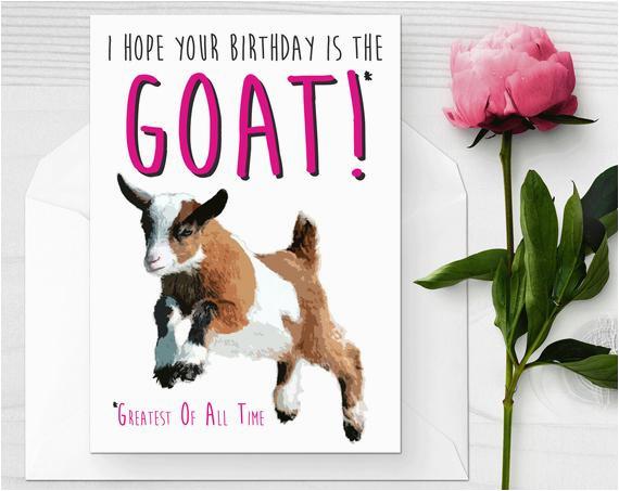 Baby Goat Birthday Card Baby Goat Birthday Card Funny Birthday Card I Love Goats