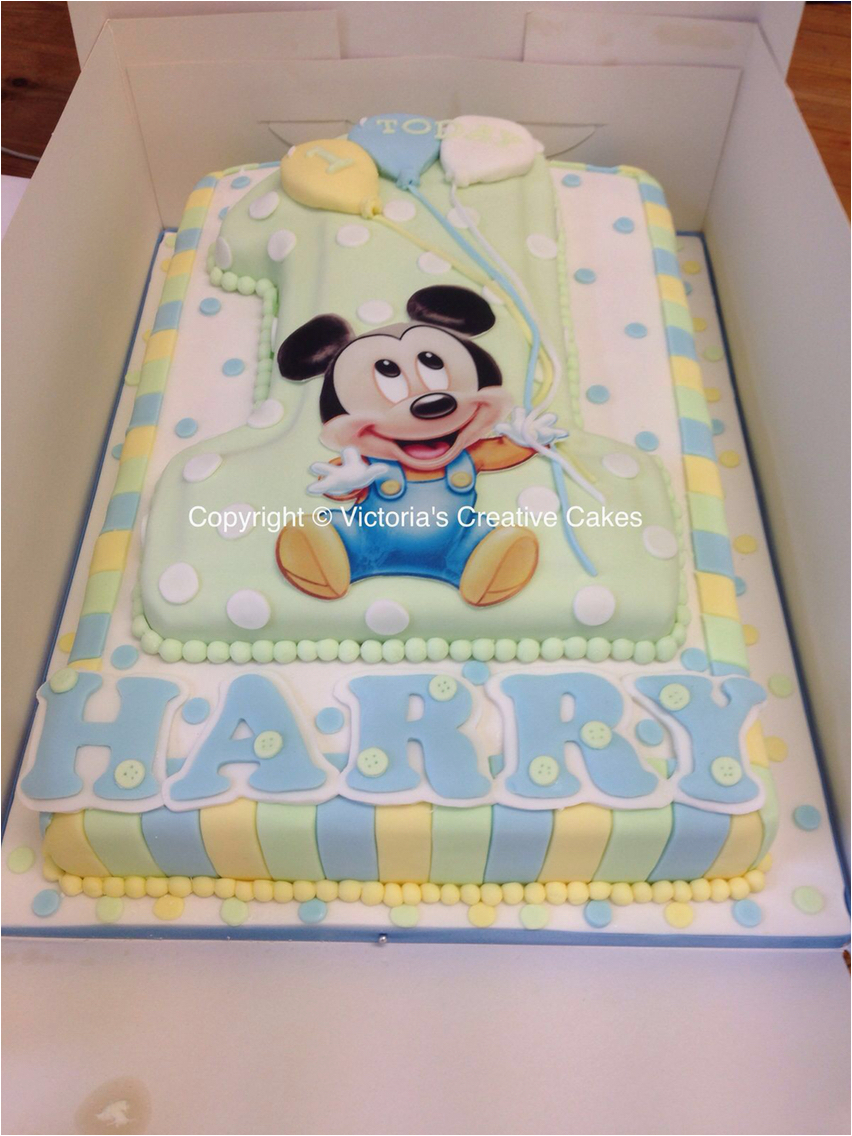 Baby Mickey Mouse 1st Birthday Decorations 11 Mini Cakes Cake And Number