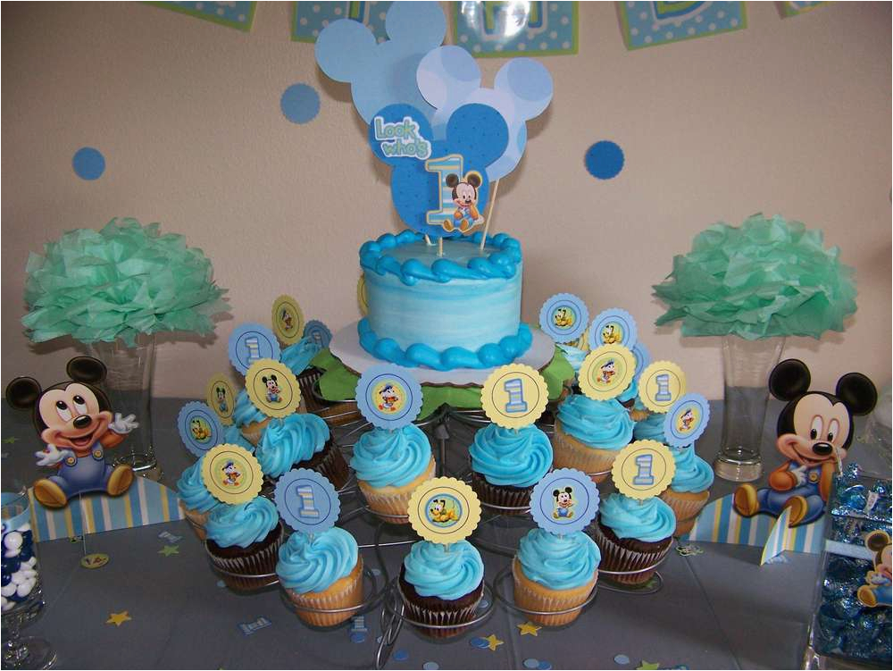 Baby Mickey Mouse 1st Birthday Decorations Criolla Brithday