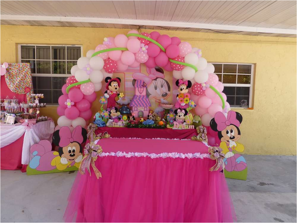 Baby Minnie 1st Birthday Decorations Mouse Party Ideas