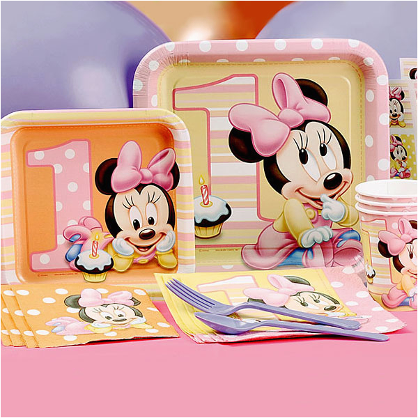 Baby Minnie 1st Birthday Decorations Mouse First Partyware Disney