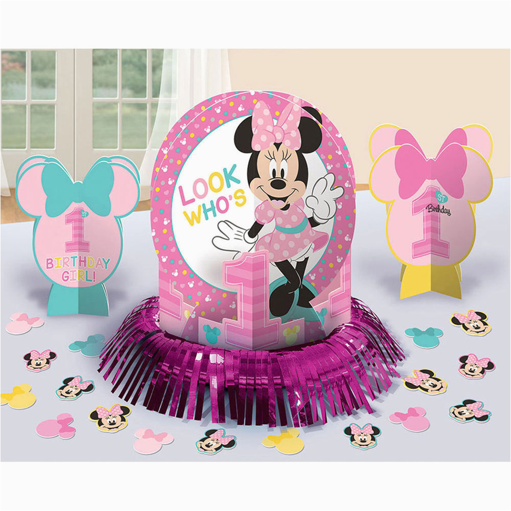 Baby Minnie Mouse 1st Birthday Decorations Disney Party Centerpiece
