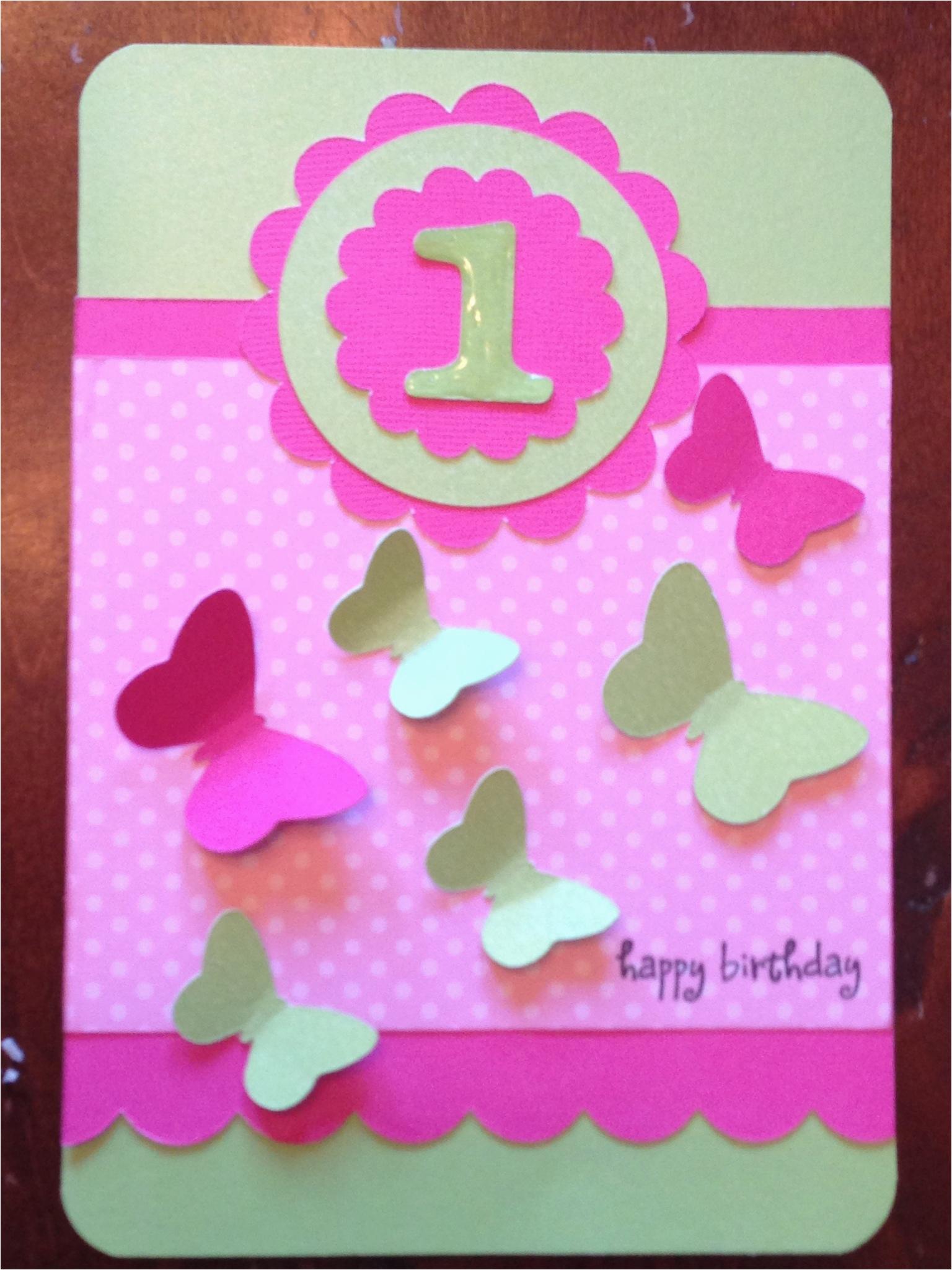 little girl birthday card ideas