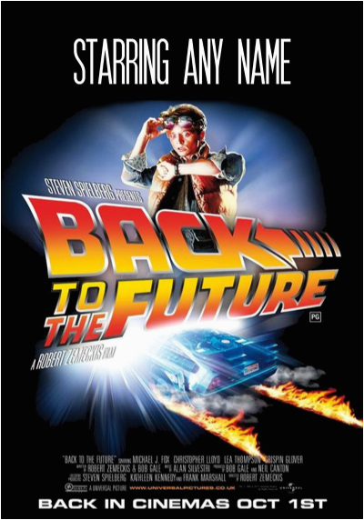spoof back to the future movie film poster birthday card 1122 p