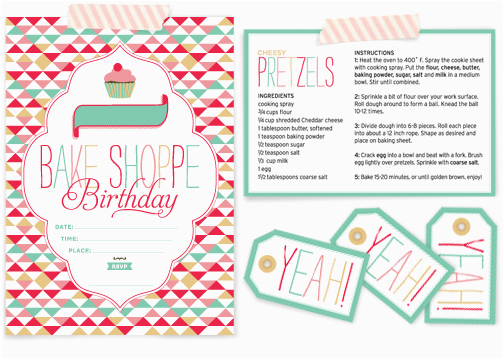 freebie bake shoppe birthday invitations