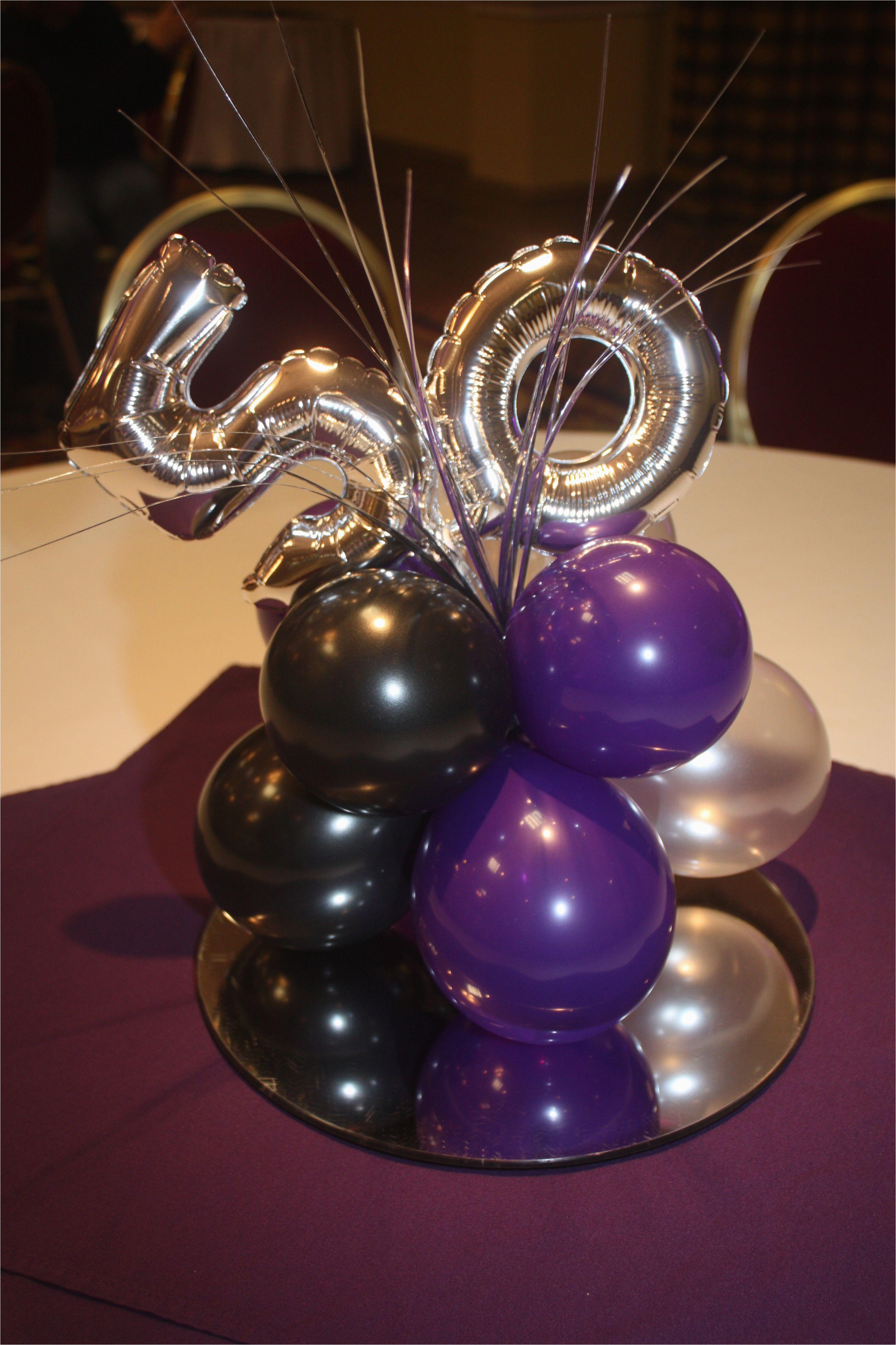 Balloon Decorations For 50th Birthday Centerpiece Ballooncenterpiece