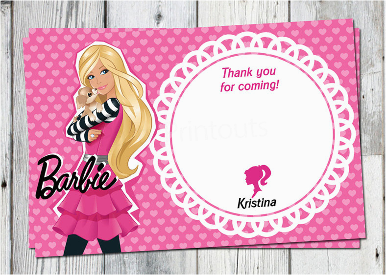 barbie birthday invitation card free printable