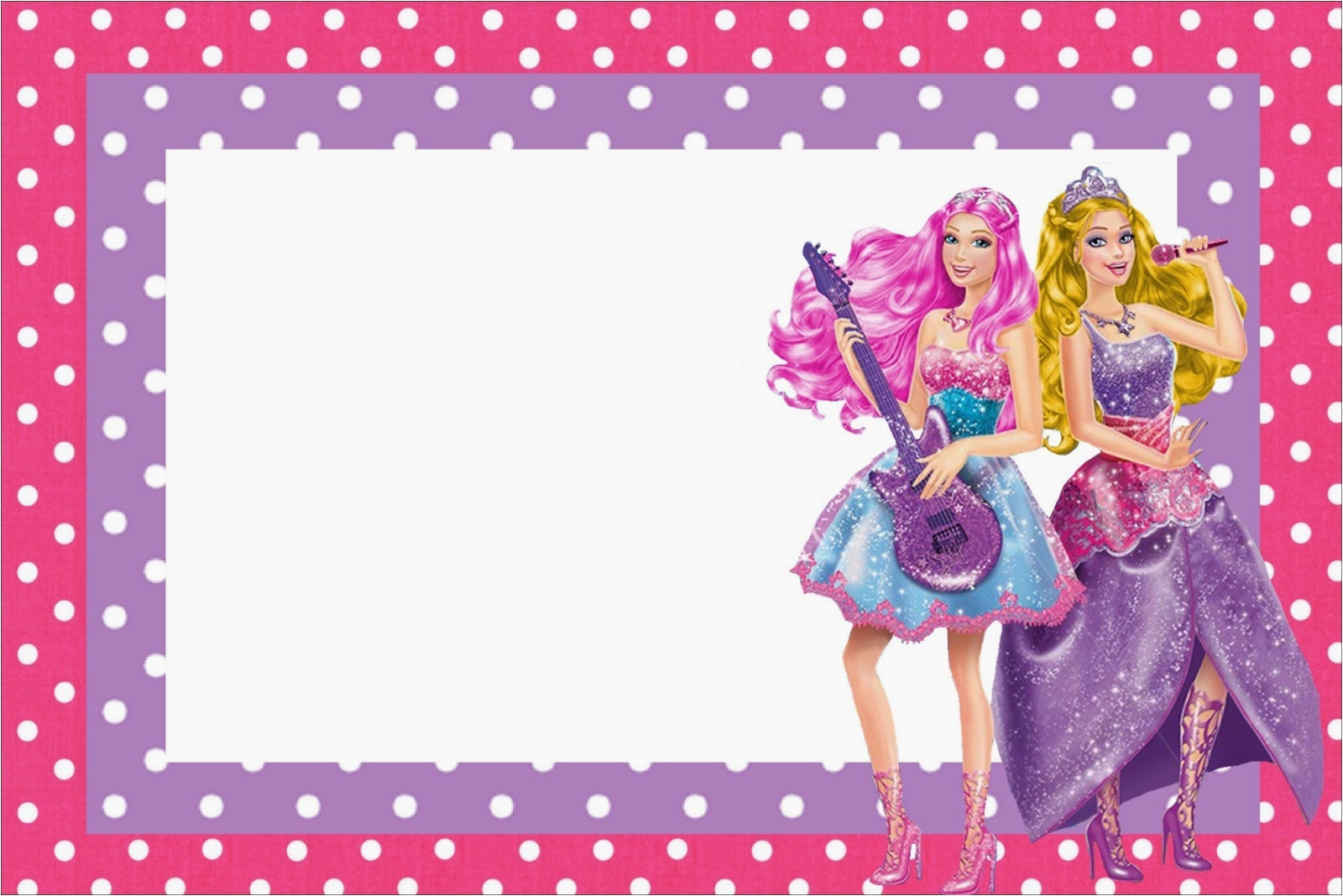 barbie rock star free printable