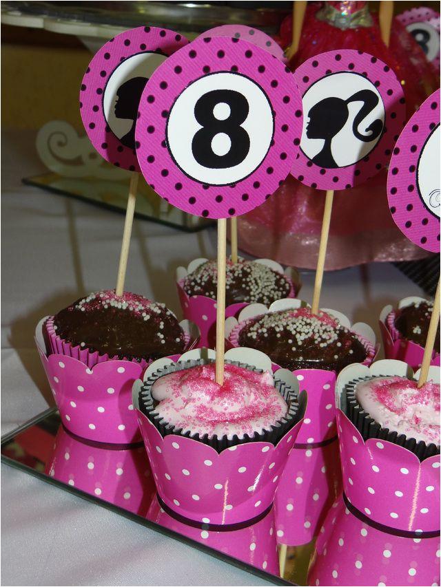 vintage barbie pinkblackwhite party theme