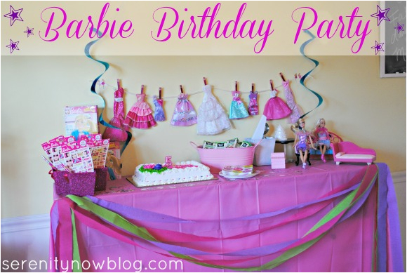 throw barbie birthday party at home