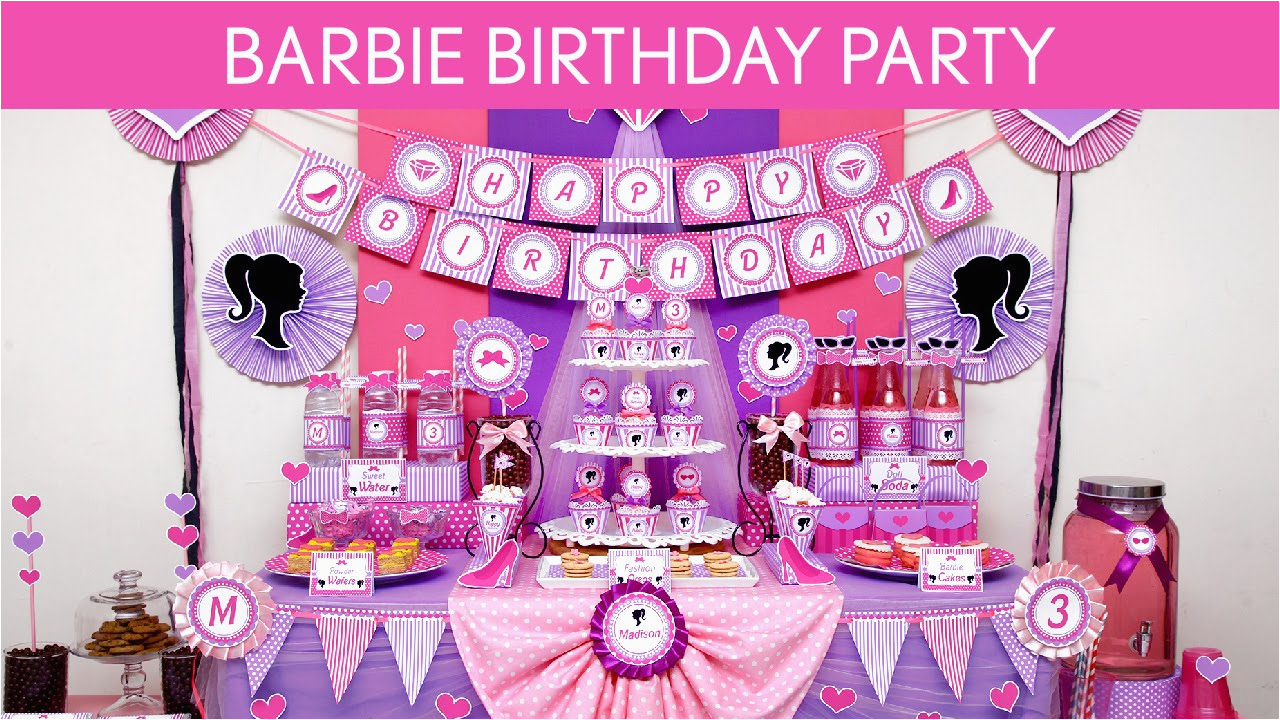 barbie birthday party games ideas