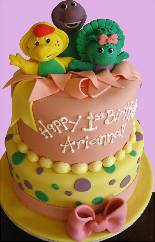 Barney Birthday Cake Decorations Baby Showers and First Birthdays Blog Oakleafcakes Com