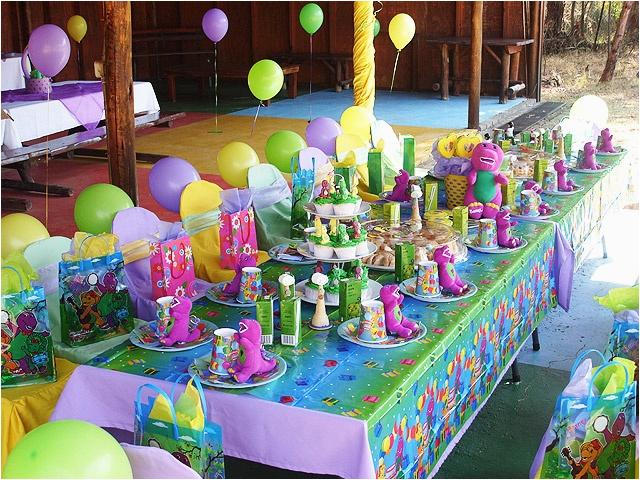 barney themed birthday