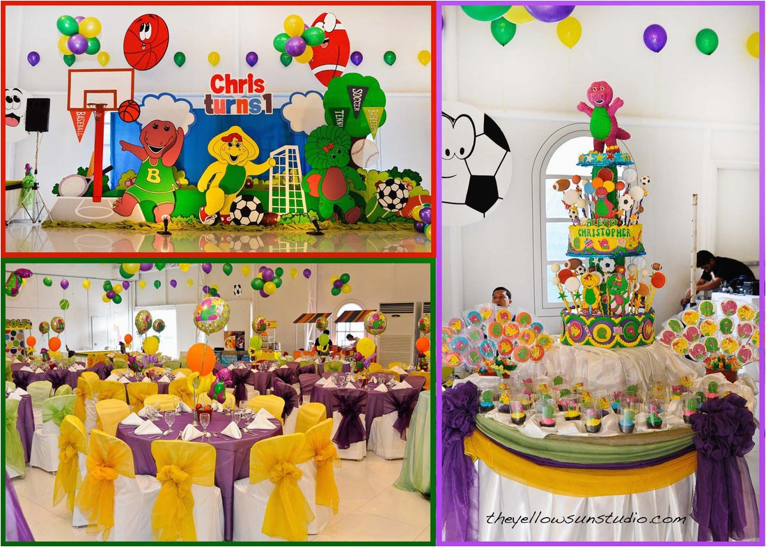 barney birthday party ideas