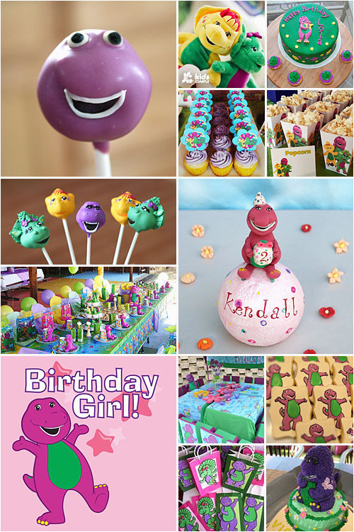barney theme party