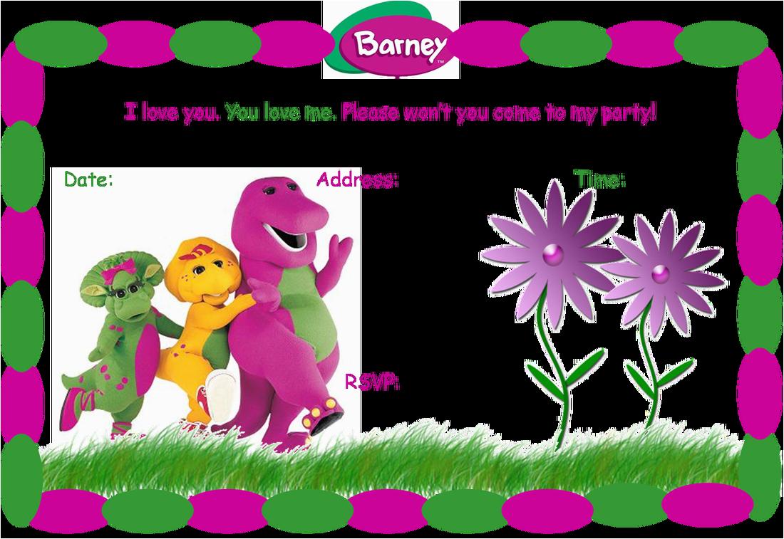 Barney Birthday Invitations Free 40th Birthday Ideas Barney Birthday