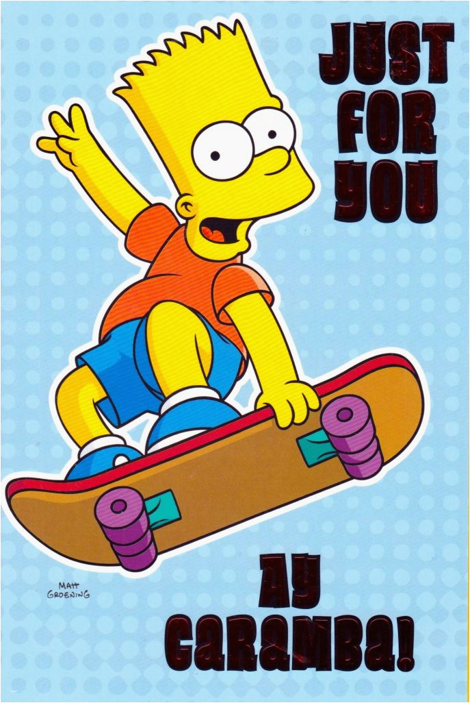 the amazing bart simpson birthday card with regard to fantasy
