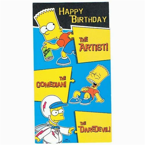 collectionhdwn happy birthday simpsons card