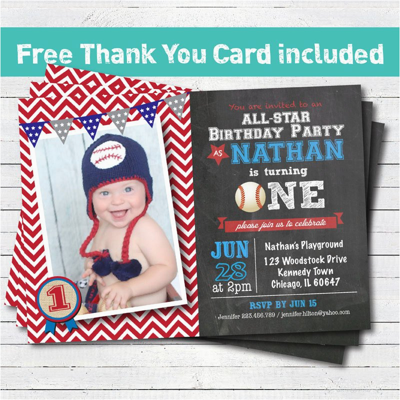 baseball birthday invitation baby boy