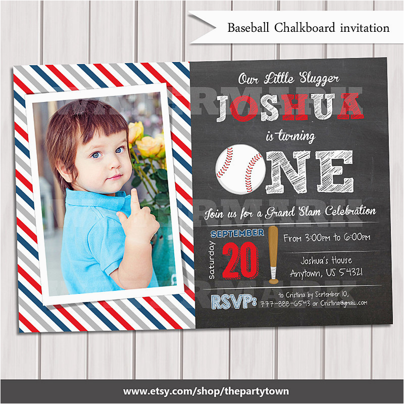 baseball invitation 1st birthday
