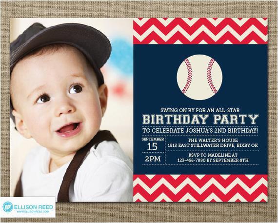 Baseball 1st Birthday Invitations Baseball Invitation First Birthday Invitation Sports