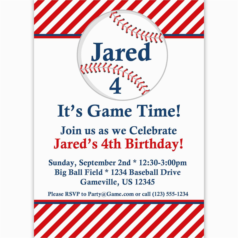 Baseball Birthday Invitation Wording Baseball Party Invitations Party Invitations Templates