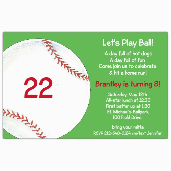play ball baseball birthday invitations p 612 85 21807itb