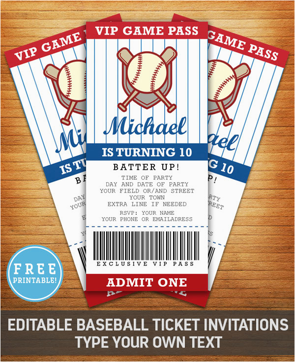 Baseball Themed First Birthday Invitations Party Invitation Free Printable M Gulin