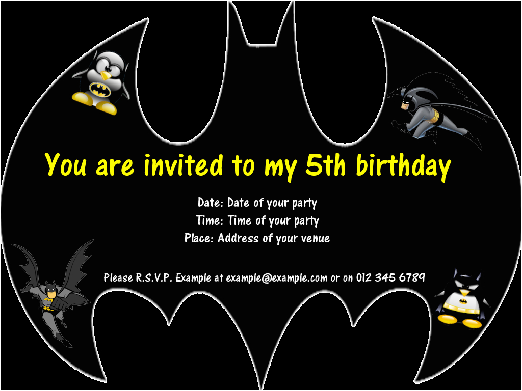 Batman Birthday Invitation Template 7 Best Images Of Invitations Free Printables