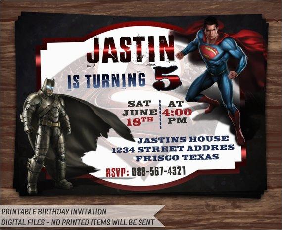 batman vs superman invitationbatman vs