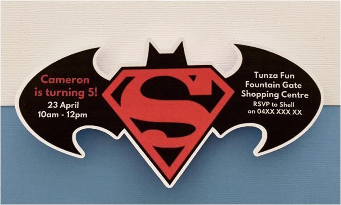 Batman Vs Superman Birthday Party Invitations Personalised Batman Vs Superman Birthday Party Invitation